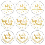 Kaisercraft - Lucky Dip Collection - Foil Stickers - Let's Celebrate