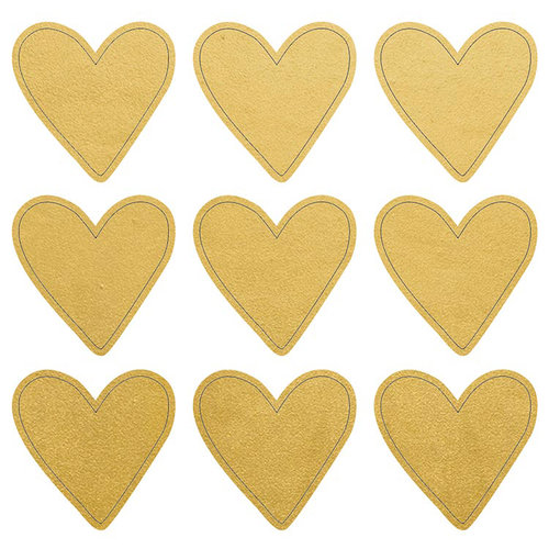 Kaisercraft - Lucky Dip Collection - Foil Stickers - Gold Hearts