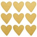 Kaisercraft - Lucky Dip Collection - Foil Stickers - Gold Hearts