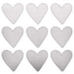 Kaisercraft - Lucky Dip Collection - Foil Stickers - Silver Hearts