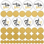 Kaisercraft - Lucky Dip Collection - Foil Stickers - Made with Love