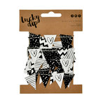 Kaisercraft - Lucky Dip Collection - Mini Paper Bunting - Black and White