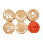 Kaisercraft - Lucky Dip Collection - Cling Mounted Rubber Stamps - Just for You