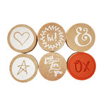 Kaisercraft - Lucky Dip Collection - Cling Mounted Rubber Stamps - Thank You