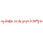 Kaisercraft - Lucky Dip Collection - Printed Tape - Christmas Script Words