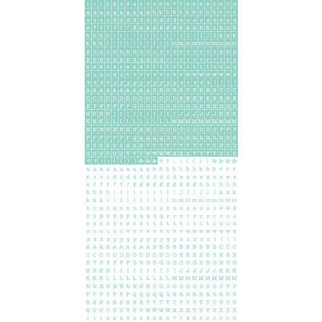 Kaisercraft - Cardstock Stickers - Tiny Alphabet - Blue Heaven