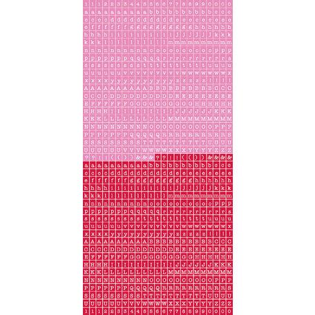 Kaisercraft - Cardstock Stickers - Tiny Alphabet - Raspberry