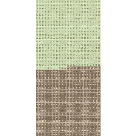 Kaisercraft - Cardstock Stickers - Tiny Alphabet - Choc Mint