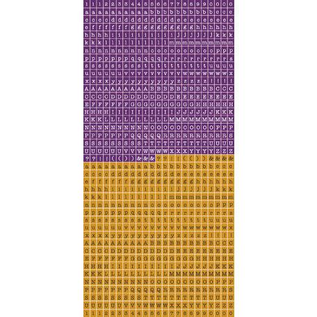 Kaisercraft - Cardstock Stickers - Tiny Alphabet - Rum and Raisin