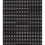 Kaisercraft - Cardstock Stickers - Alpha - Dymo - Black