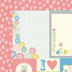 Kaisercraft - Suga Pop Collection - 12 x 12 Double Sided Paper - Fruit Tingle