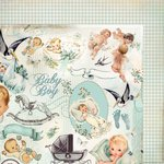 Kaisercraft - Bundle of Joy Collection - 12 x 12 Double Sided Paper - Booties