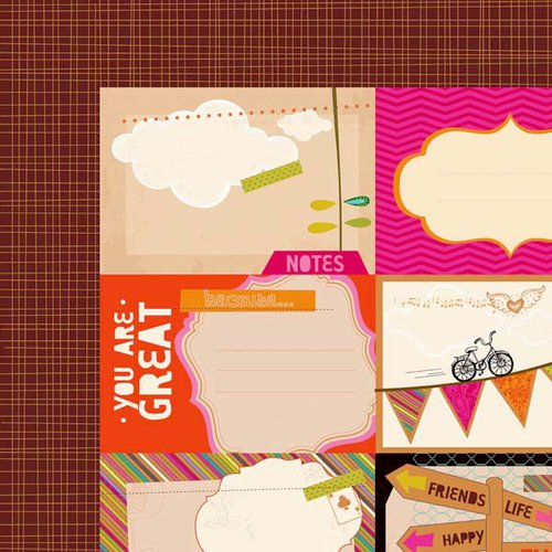 Kaisercraft - Hopscotch Collection - 12 x 12 Double Sided Paper - Artful