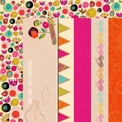 Kaisercraft - Hopscotch Collection - 12 x 12 Double Sided Paper - Peachy