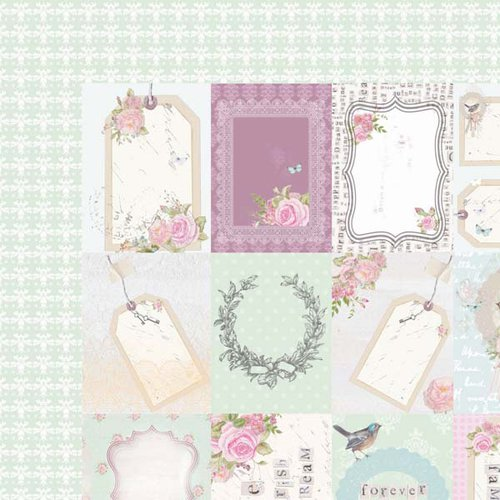 Kaisercraft - True Romance Collection - 12 x 12 Double Sided Paper - Desire