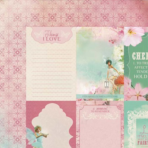 Kaisercraft - Enchanted Garden Collection - 12 x 12 Double Sided Paper - Soft Whisper