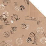 Kaisercraft - Mix and Match Collection - 12 x 12 Double Sided Paper - Postage Stamps