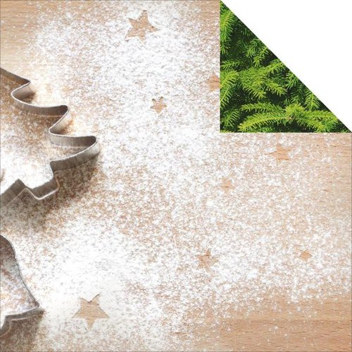 Kaisercraft - Basecoat Christmas Collection - 12 x 12 Double Sided Paper - Baking