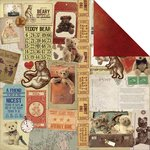 Kaisercraft - Teddy Bears Picnic Collection - 12 x 12 Double Sided Paper - Teddy