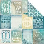 Kaisercraft - Sandy Toes Collection - 12 x 12 Double Sided Paper - Beach Bum