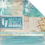 Kaisercraft - Sandy Toes Collection - 12 x 12 Double Sided Paper - Waves