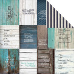 Kaisercraft - Blue Bay Collection - 12 x 12 Double Sided Paper - Lagoon
