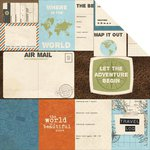 Kaisercraft - Wanderlust Collection - 12 x 12 Double Sided Paper - Unknown