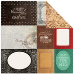 Kaisercraft - Antique Bazaar Collection - 12 x 12 Double Sided Paper - Barter