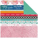 Kaisercraft - Chase Rainbows Collection - 12 x 12 Double Sided Paper - Ablaze