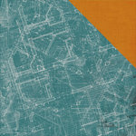 Kaisercraft - Scrap Yard Collection - 12 x 12 Double Sided Paper - Blue Print
