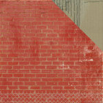 Kaisercraft - Scrap Yard Collection - 12 x 12 Double Sided Paper - Brick Wall