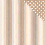 Kaisercraft - Back to Basics Collection - 12 x 12 Double Sided Paper - Kraft Stripe