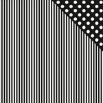Kaisercraft - Back to Basics Collection - 12 x 12 Double Sided Paper - Black Stripe