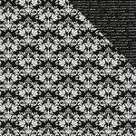 Kaisercraft - Back to Basics Collection - 12 x 12 Double Sided Paper - Black Damask