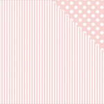 Kaisercraft - Back to Basics Collection - 12 x 12 Double Sided Paper - Pink Stripe