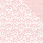 Kaisercraft - Back to Basics Collection - 12 x 12 Double Sided Paper - Pink Damask