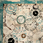 Kaisercraft - Time Machine Collection - 12 x 12 Double Sided Paper - Clocks