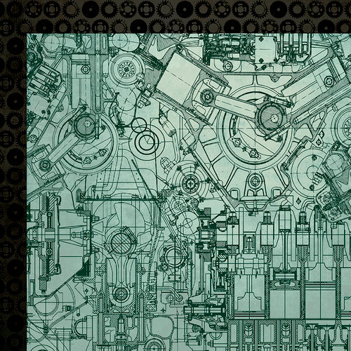 Kaisercraft - Time Machine Collection - 12 x 12 Double Sided Paper - Mechanism
