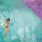 Kaisercraft - Fairy Dust Collection - 12 x 12 Double Sided Paper - Dew Drops