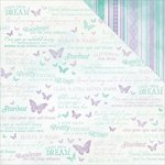 Kaisercraft - Fairy Dust Collection - 12 x 12 Double Sided Paper - Flutterby