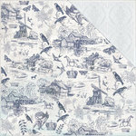 Kaisercraft - Provincial Collection - 12 x 12 Double Sided Paper - Toile