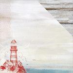 Kaisercraft - Sail Away Collection - 12 x 12 Double Sided Paper - Lighthouse