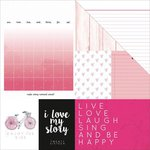 Kaisercraft - My Year, My Story Collection - 12 x 12 Double Sided Paper - Raspberry