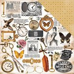 Kaisercraft - Treasured Moments Collection - 12 x 12 Double Sided Paper - Recall