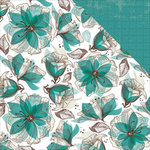 Kaisercraft - Sea Breeze Collection - 12 x 12 Double Sided Paper - Waterlily