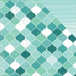 Kaisercraft - Sea Breeze Collection - 12 x 12 Double Sided Paper - Waterfall