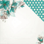Kaisercraft - Sea Breeze Collection - 12 x 12 Double Sided Paper - Raindrop