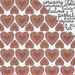 Kaisercraft - True Love Collection - 12 x 12 Double Sided Paper - My Honey