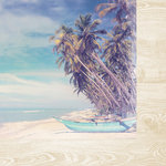 Kaisercraft - Coastal Escape Collection - 12 x 12 Double Sided Paper - Palms