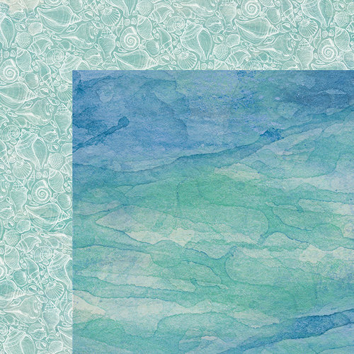 Kaisercraft - Coastal Escape Collection - 12 x 12 Double Sided Paper - Shells
